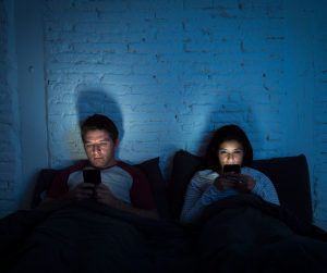 your phones prior to bedtime and going to sleep